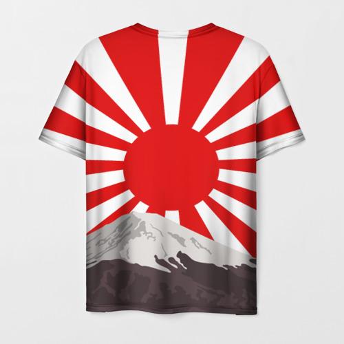 Мужская 3D футболка с принтом GODZILLA JAPAN | ГОДЗИЛЛА ЯПОНИЯ, вид сзади #1