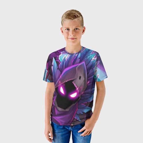 Детская 3D футболка с принтом FORTNITE RAVEN | ФОРТНАЙТ ВОРОН, фото на моделе #1