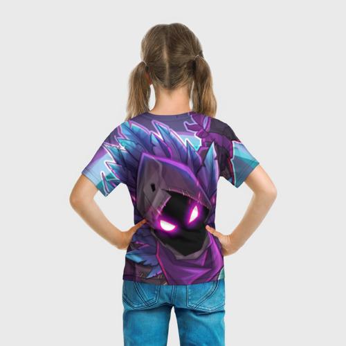 Детская 3D футболка с принтом FORTNITE RAVEN | ФОРТНАЙТ ВОРОН, вид сзади #2