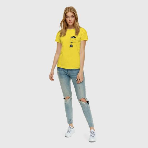 Женская футболка с принтом Странствующая сажа, вид сбоку #3