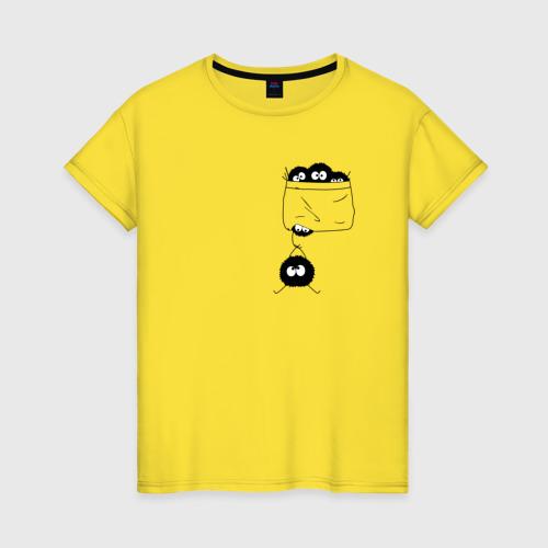 Женская футболка с принтом Странствующая сажа, вид спереди #2