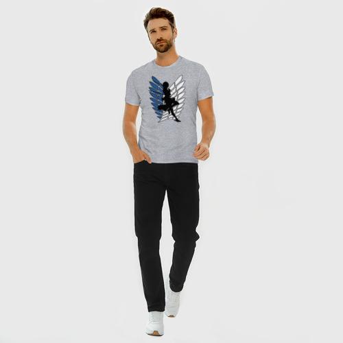 Мужская футболка премиум с принтом Mikasa, вид сбоку #3