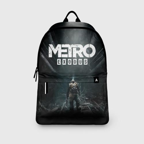 Рюкзак 3D с принтом METRO EXODUS   МЕТРО ИСХОД АРТЁМ, вид сбоку #3