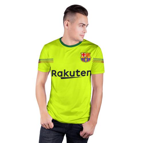 Мужская футболка 3D спортивная с принтом Coutinho away 18-19, фото на моделе #1