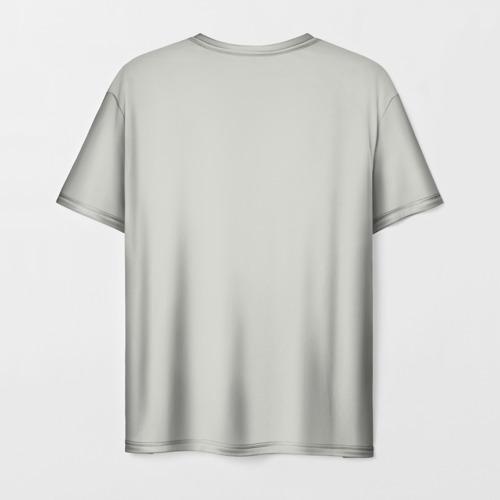 Мужская 3D футболка с принтом True Detective, вид сзади #1