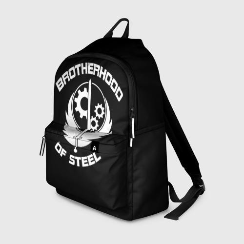 Рюкзак 3D с принтом БРАТСТВО СТАЛИ, вид спереди #2