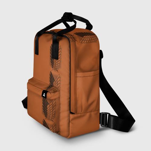 Женский рюкзак 3D с принтом Новая форма Атака Титанов, фото на моделе #1