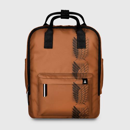 Женский рюкзак 3D с принтом Новая форма Атака Титанов, вид спереди #2