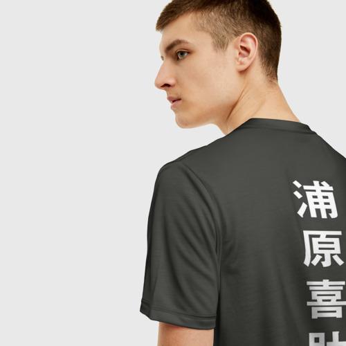 Мужская 3D футболка с принтом BLEACH KISUKE URAHARA, вид сзади #2