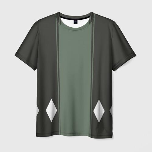 Мужская 3D футболка с принтом BLEACH KISUKE URAHARA, вид спереди #2