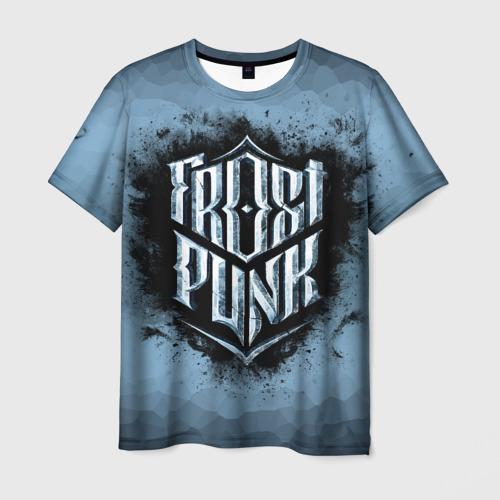 Мужская 3D футболка Frostpunk Logo