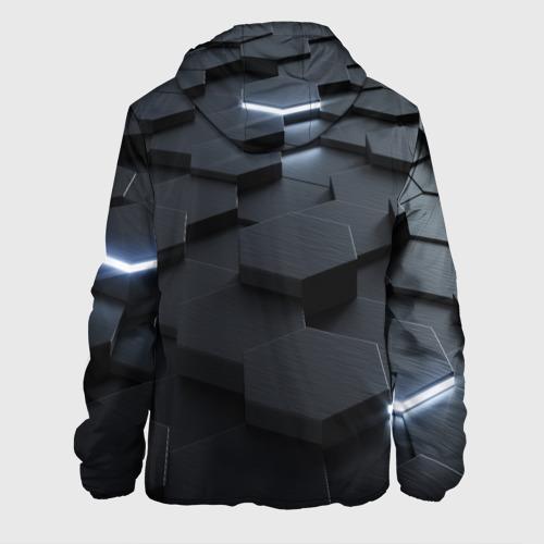 Мужская куртка 3D с принтом НАНО СОТЫ, вид сзади #1