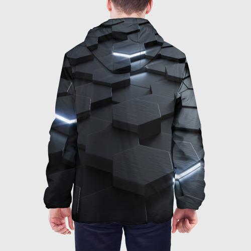 Мужская куртка 3D с принтом НАНО СОТЫ, вид сзади #2