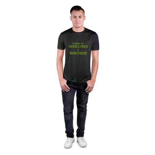 Мужская футболка 3D спортивная с принтом Created by Lynch & Frost, вид сбоку #3