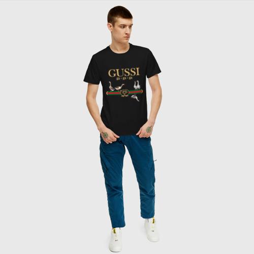 Мужская футболка с принтом Гуси, вид сбоку #3