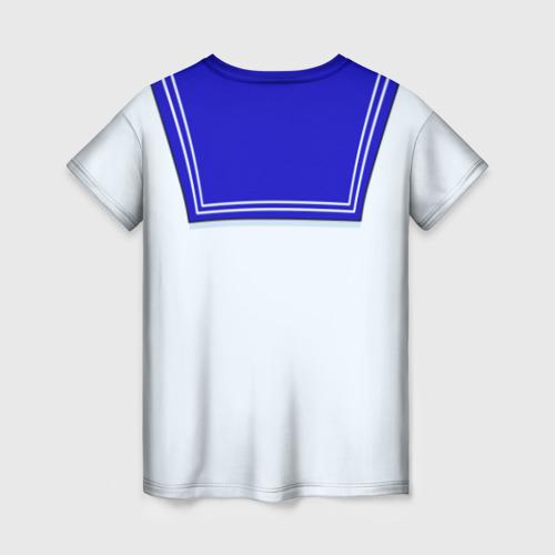 Женская 3D футболка с принтом Матроска, вид сзади #1
