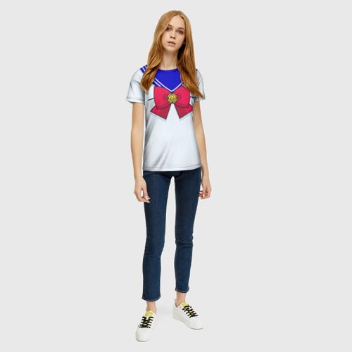Женская 3D футболка с принтом Матроска, вид сбоку #3