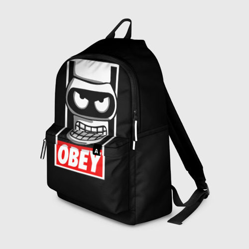 Рюкзак 3D с принтом Бендер, вид спереди #2
