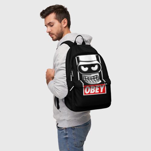 Рюкзак 3D с принтом Бендер, фото на моделе #1