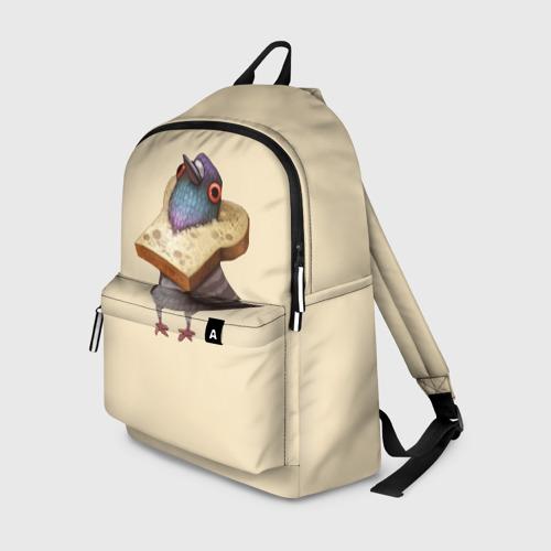 Рюкзак 3D Голубь и Хлебушек