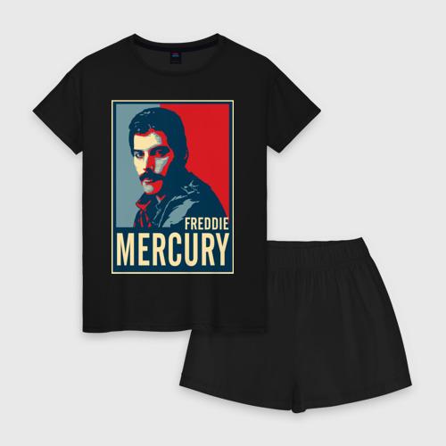 Женская пижама с шортиками хлопок Freddie Mercury