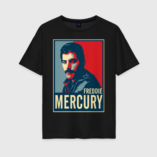 Женская футболка oversize Freddie Mercury