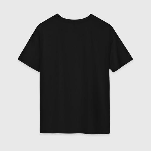 Женская футболка oversize с принтом Бодрость бьет ключом, вид сзади #1