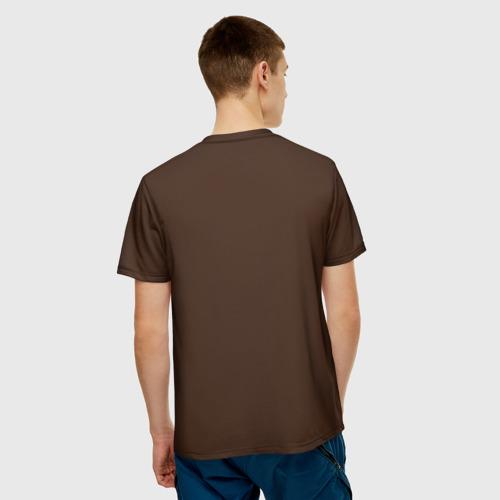 Мужская 3D футболка с принтом Костюм пирата, вид сзади #2