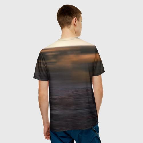 Мужская 3D футболка с принтом Солнечный зайчик, вид сзади #2