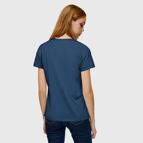 Женская 3D футболка с принтом Титаник, вид сзади #2