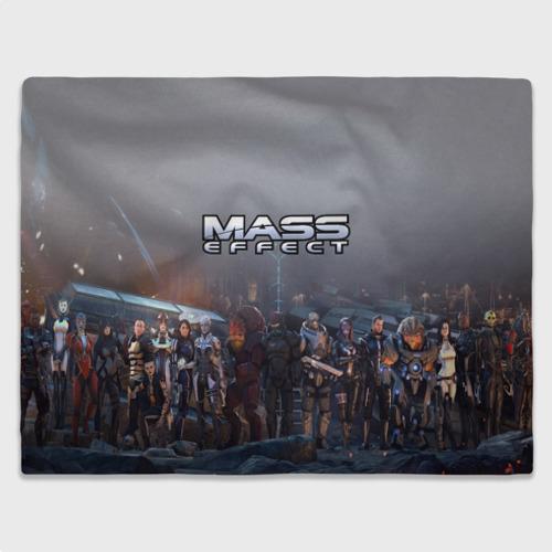 Плед 3D с принтом Mass Effect, вид спереди #2