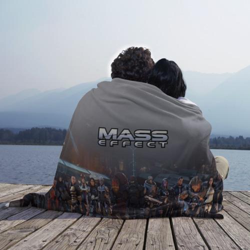 Плед 3D с принтом Mass Effect, фото на моделе #1