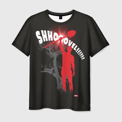 Мужская 3D футболка Shovel 3D