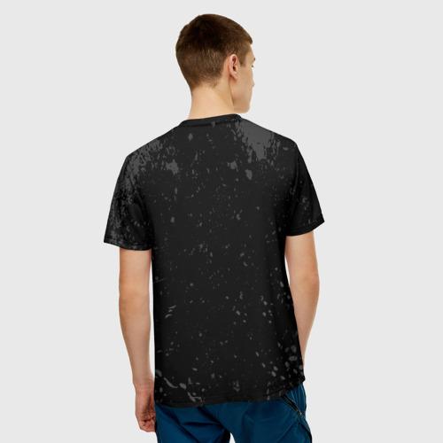 Мужская 3D футболка с принтом Lil Peep, вид сзади #2