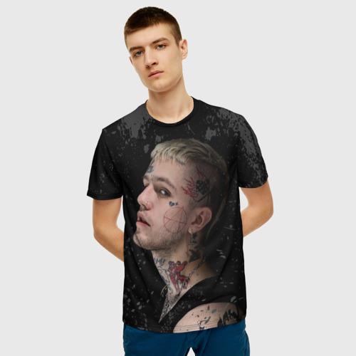Мужская 3D футболка с принтом Lil Peep, фото на моделе #1