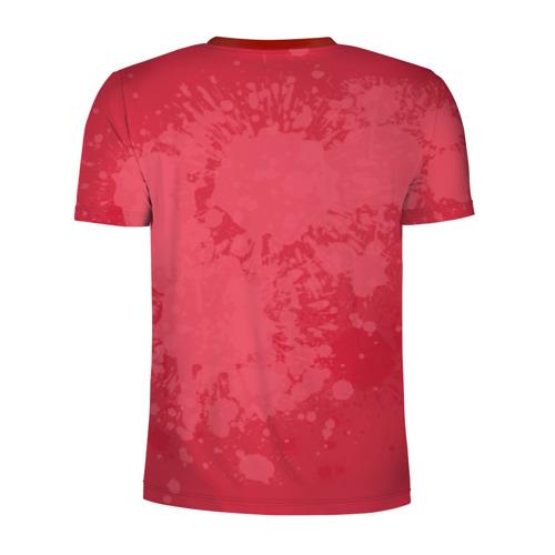 Мужская футболка 3D спортивная с принтом Любовь превыше всего, вид сзади #1