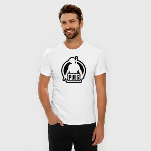 Мужская футболка премиум с принтом PUBG, фото на моделе #1