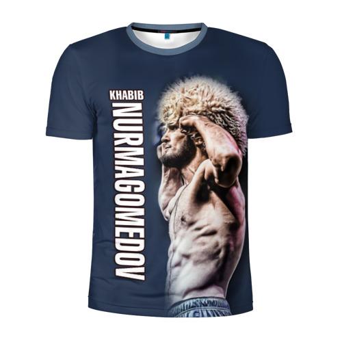 Мужская футболка 3D спортивная с принтом Хабиб Нурмагомедов, вид спереди #2
