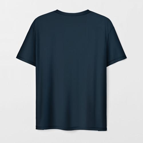 Мужская 3D футболка с принтом Пикачу Холмс, вид сзади #1
