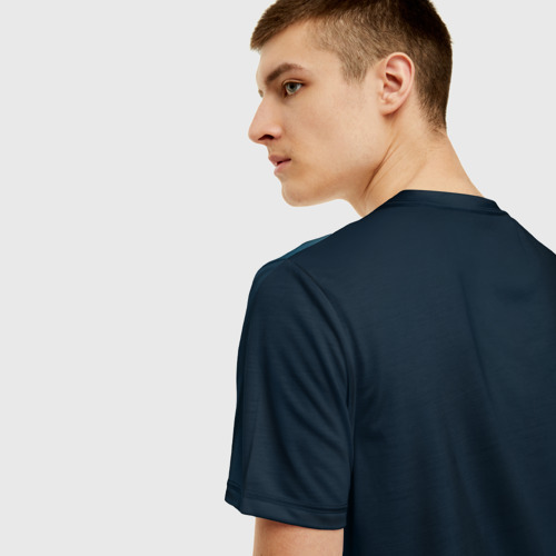Мужская 3D футболка с принтом Пикачу Холмс, вид сзади #2