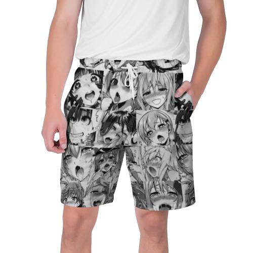 Мужские шорты 3D Такое разное АХЕГАО монохром