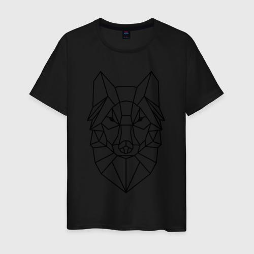 Мужская футболка Полигональный волк