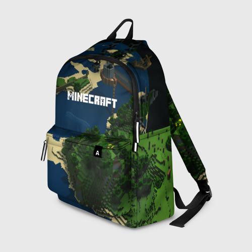 Рюкзак 3D с принтом Minecraft, вид спереди #2
