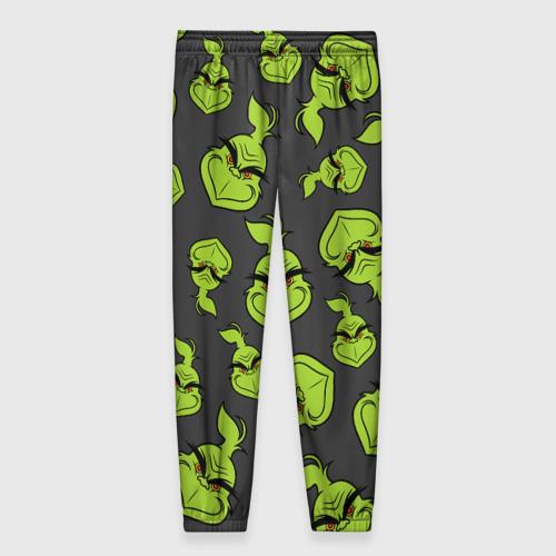 Женские брюки 3D с принтом The Grinch, вид сзади #1