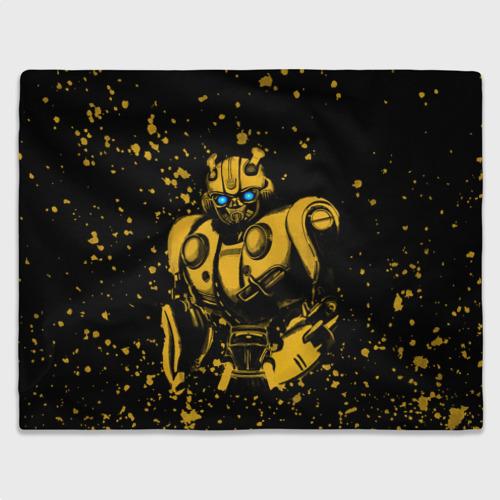 Плед 3D с принтом Bumblebee, вид спереди #2