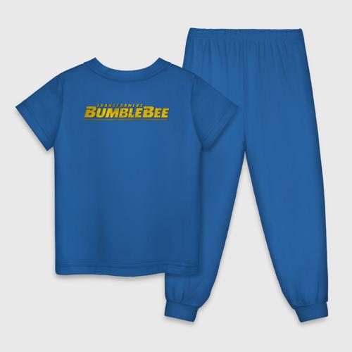 Детская пижама с принтом Bumblebee -2-, вид сзади #1
