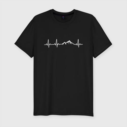 Мужская футболка премиум с принтом Горы в Моём Сердце, вид спереди #2