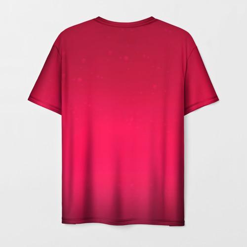 Мужская 3D футболка с принтом Jinx in love, вид сзади #1