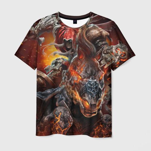 Мужская 3D футболка с принтом Демон-Всадник (Darksiders), вид спереди #2