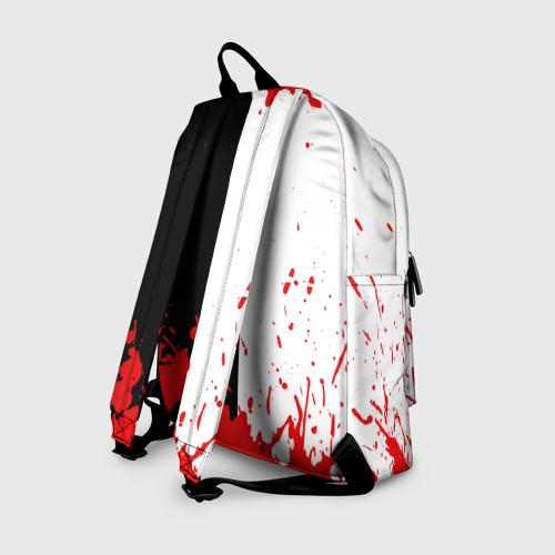 Рюкзак 3D с принтом MONOKUMA Blood, вид сзади #1